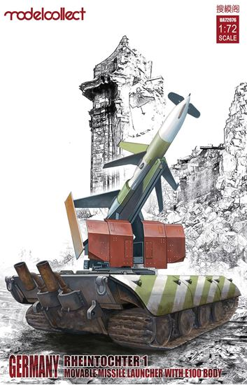Picture of Germany Rheintochter 1 movable Missile launcher with E100 body