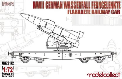 Picture of WWII German Wasserfall Ferngelenkte Flarakete Railway Car