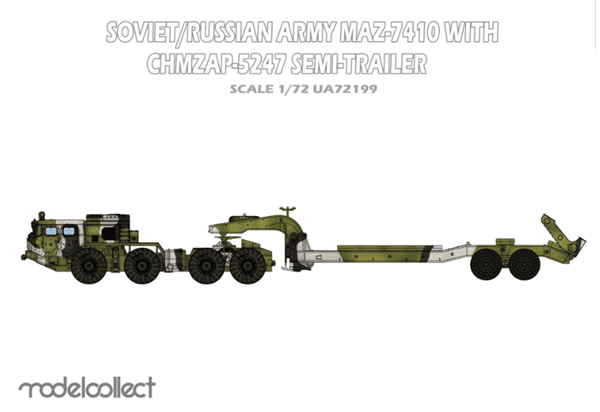 Picture of Soviet/Russian Army MAZ-7410 with ChMZAP-5247 semi-trailer