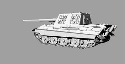 Picture of German WWII E-75 STUG gun with 128mm gun