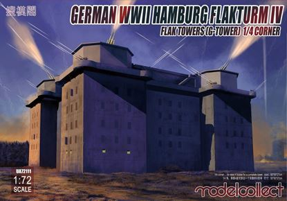 Picture of German WWII Hamburg Flakturm IV Flak Towers (G-Tower) 1/4 Corner
