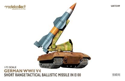Picture of German WWII V4 Short Range Tactical Ballistic missile in E-100